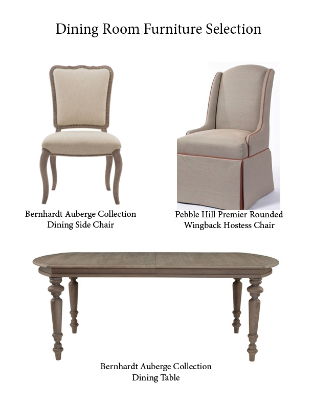 Christy Davis Interiors: Dining Room furniture selection
