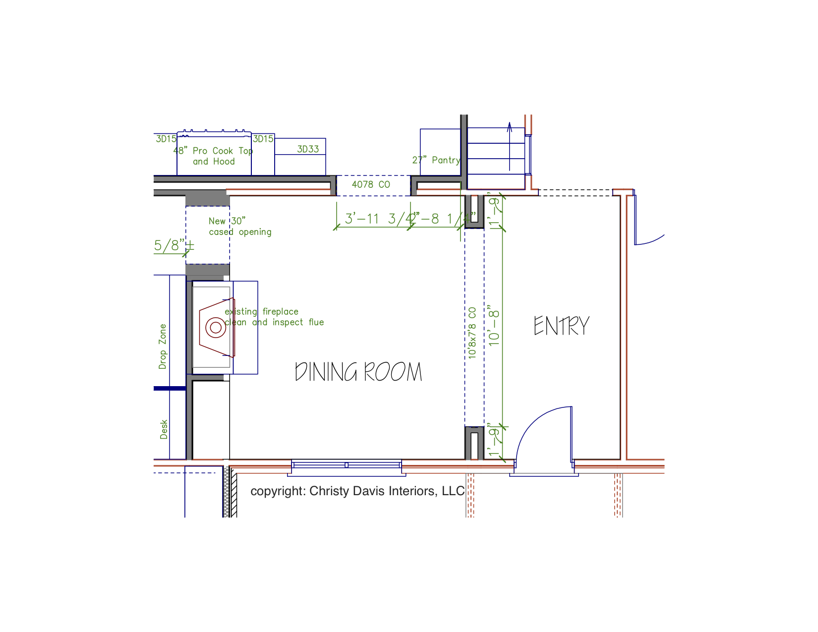 Christy Davis Interiors: Home Renovation entry and dining room