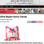 Stylish Home Trends for Columbia Metropolitan Magazine