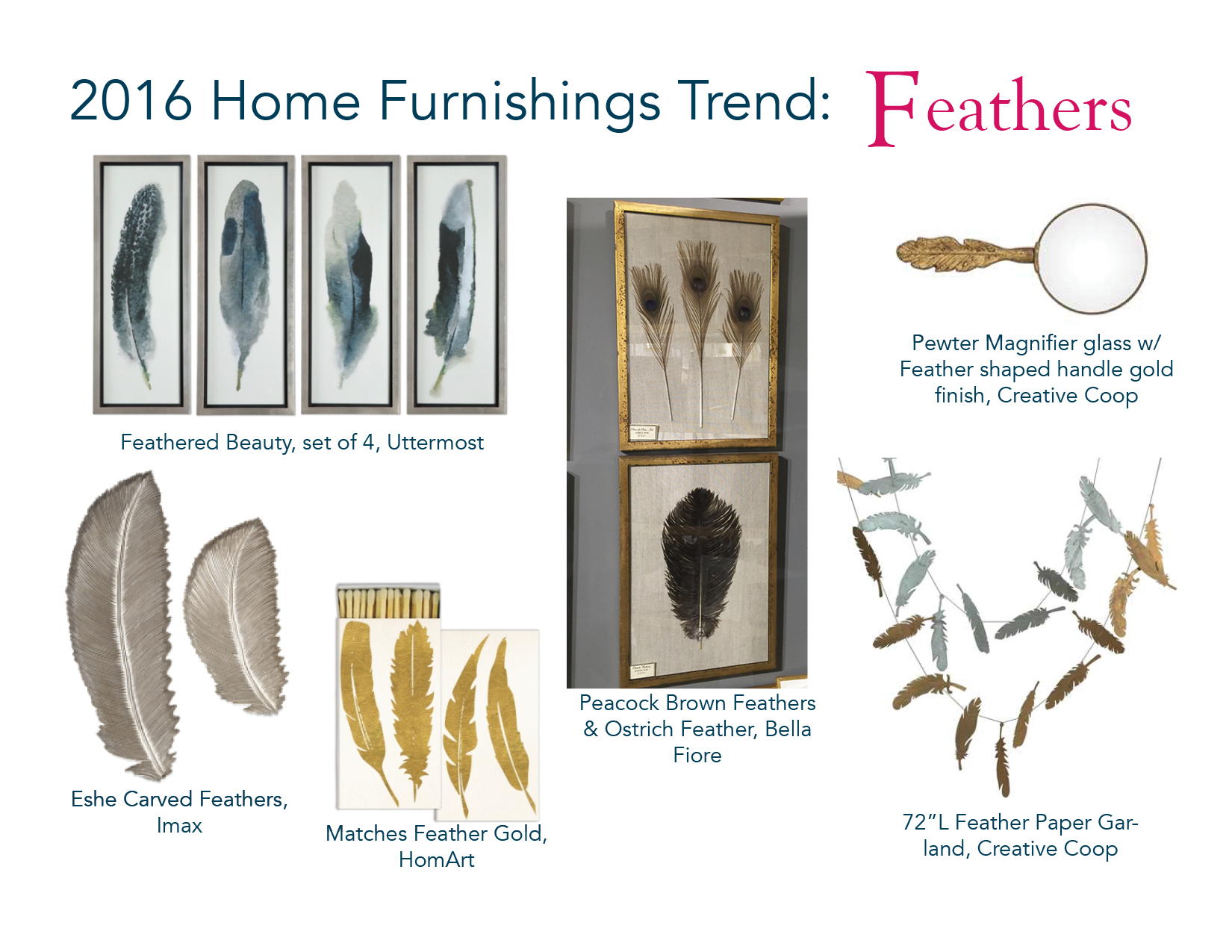 Christy Davis Interiors: January 2016 home furnishings Trends: Feathers