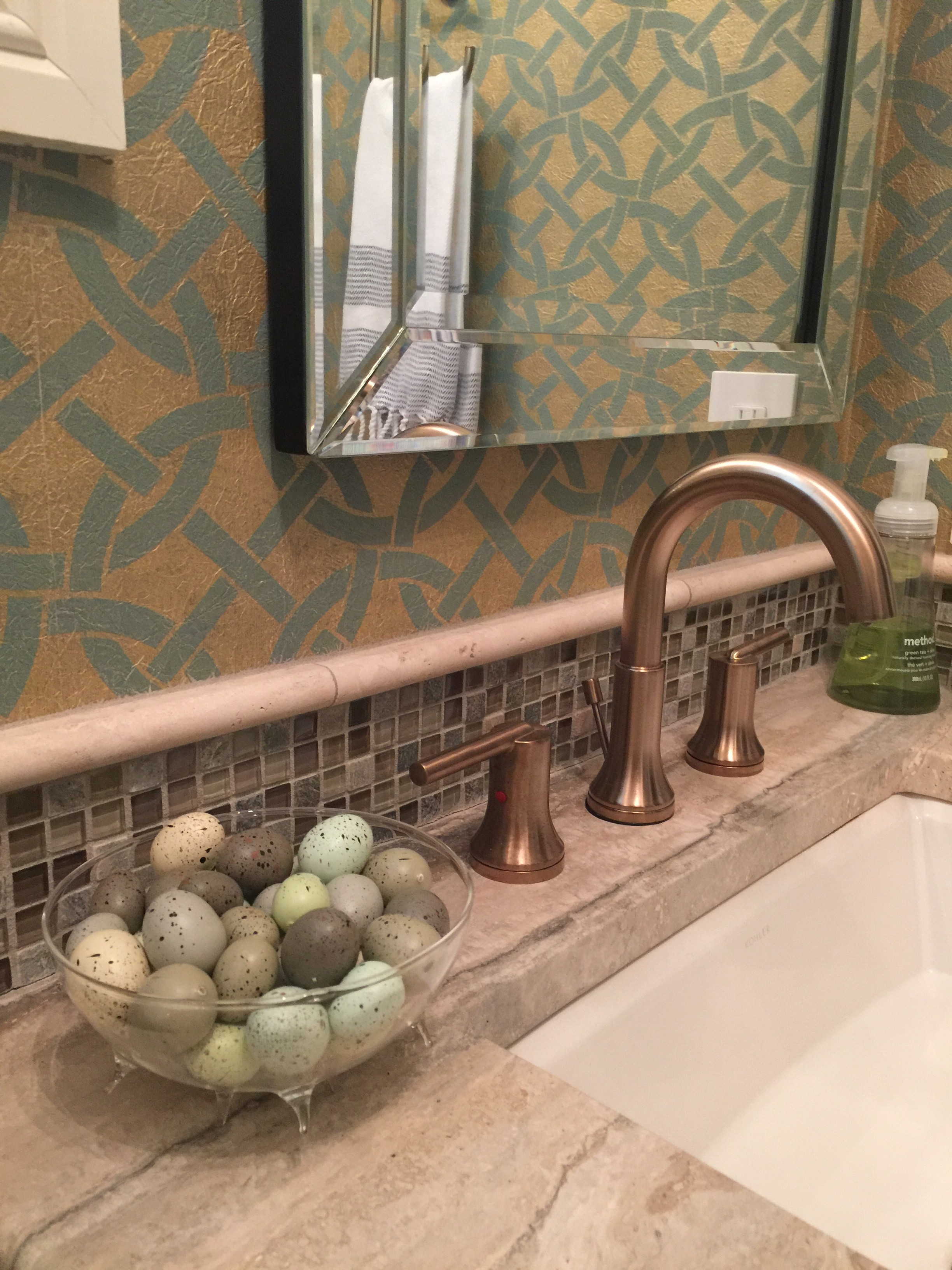 Christy Davis Interiors home Renovation Powder Room
